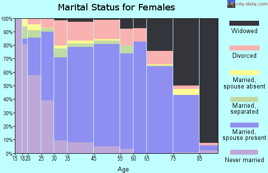 Wright County marital status for females
