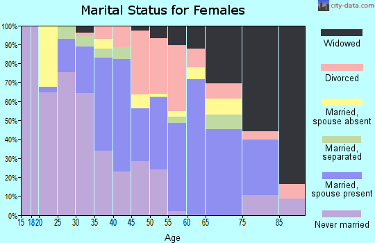 Rockdale County marital status for females