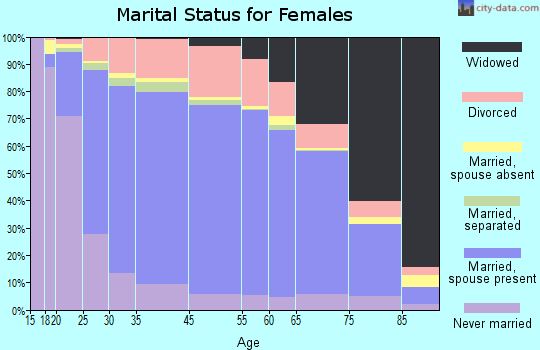 Kendall County marital status for females
