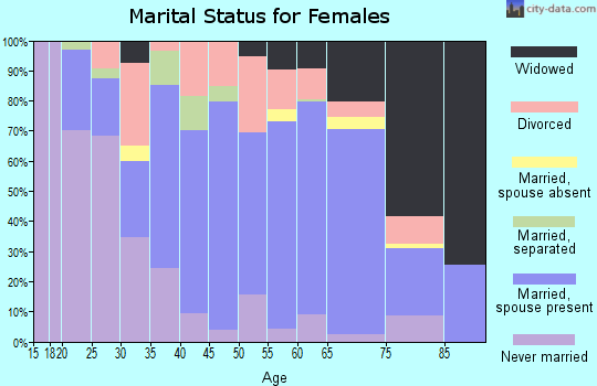 Lampasas County marital status for females