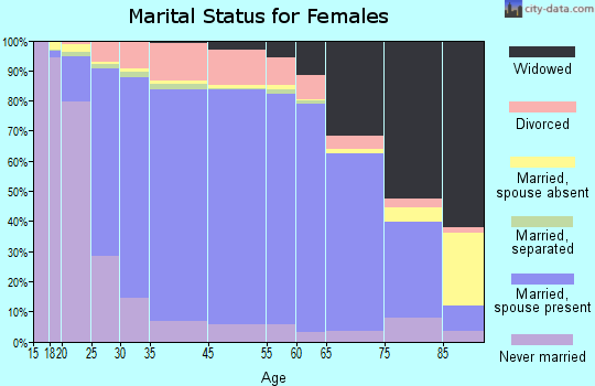 Webster County marital status for females