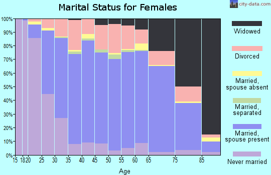 Iroquois County marital status for females