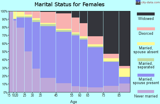 Brown County marital status for females