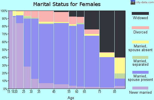 Morris County marital status for females