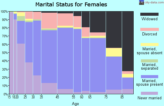 Palo Pinto County marital status for females