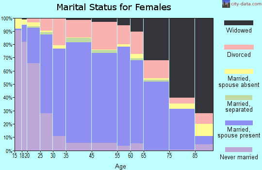 Somervell County marital status for females