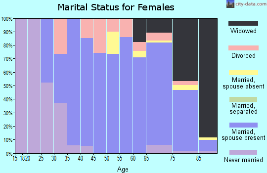 Wichita County marital status for females