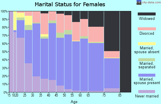 Fairfax city marital status for females