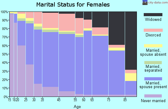 Burke County marital status for females