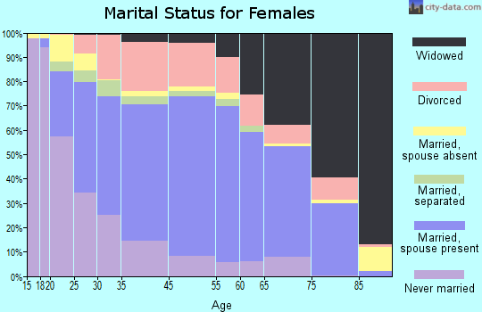 Boone County marital status for females