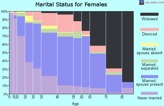 Bailey County marital status for females