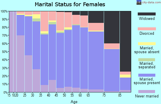 Accomack County marital status for females
