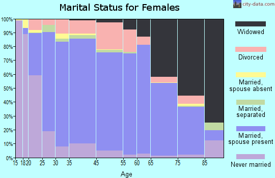 Benzie County marital status for females