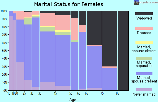 Hunterdon County marital status for females