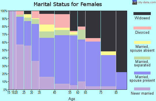 Norfolk County marital status for females