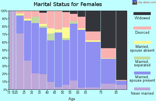 White County marital status for females