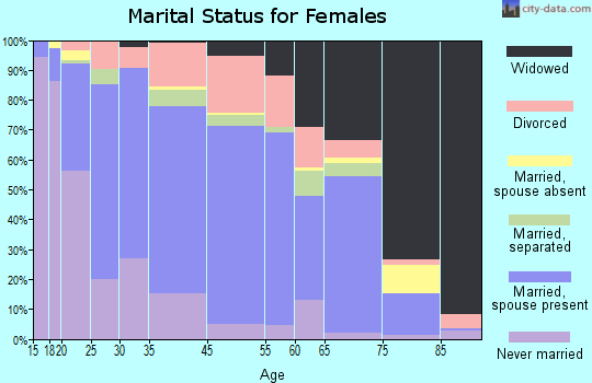 Cambria County marital status for females