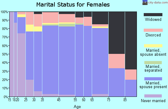 Clarke County marital status for females
