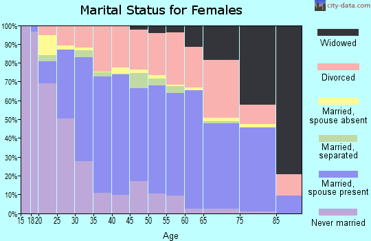 Cameron County marital status for females