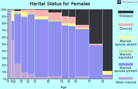 Botetourt County marital status for females