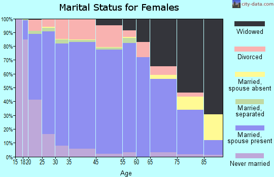 Bee County marital status for females