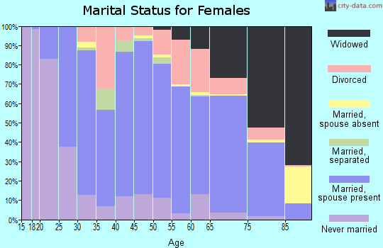 Baraga County marital status for females