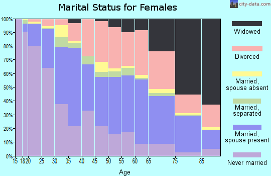 Roanoke city marital status for females