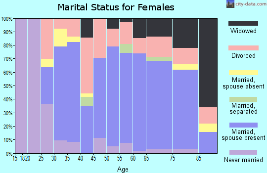 Kent County marital status for females