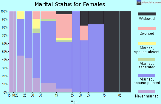 Anoka County marital status for females