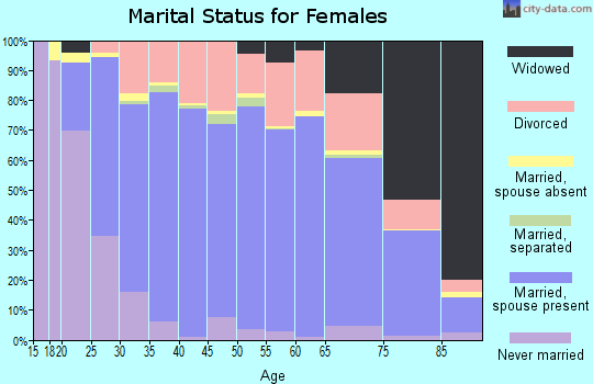 Cassia County marital status for females