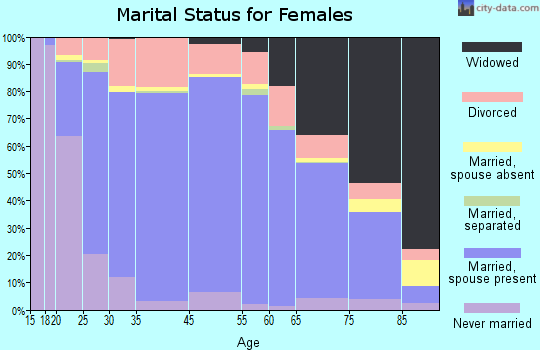 York County marital status for females