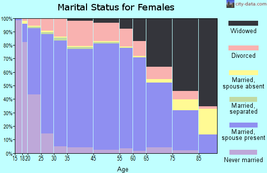 Cheboygan County marital status for females