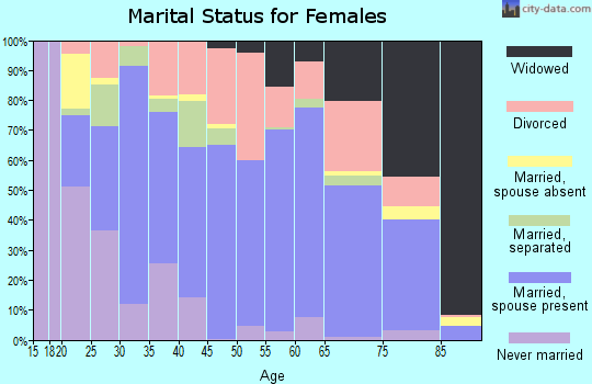 Chippewa County marital status for females