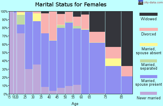 Dillon County marital status for females