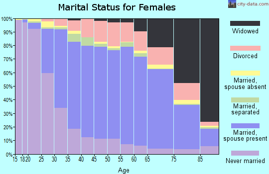 Sussex County marital status for females