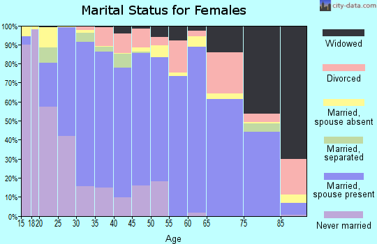 Bedford County marital status for females