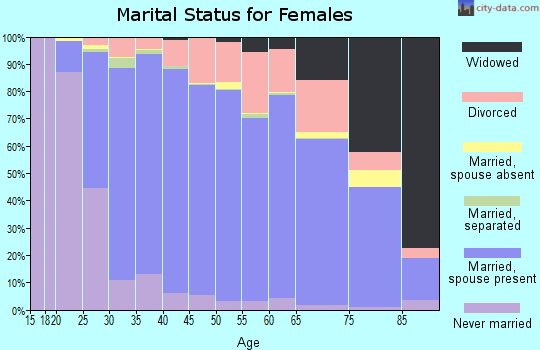 El Paso County marital status for females