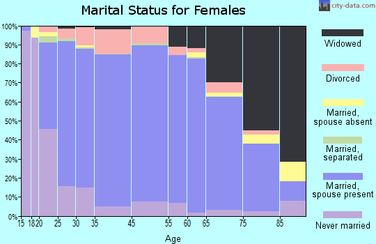 Lewis County marital status for females