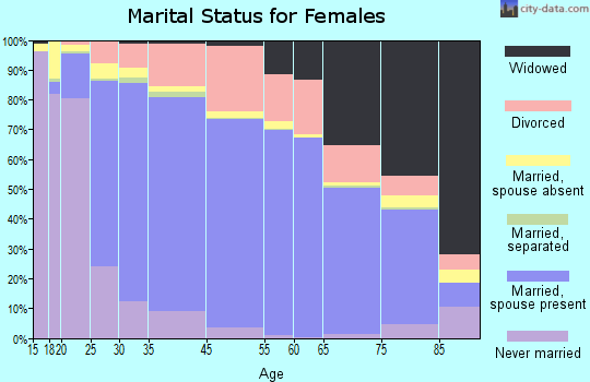 Christian County marital status for females