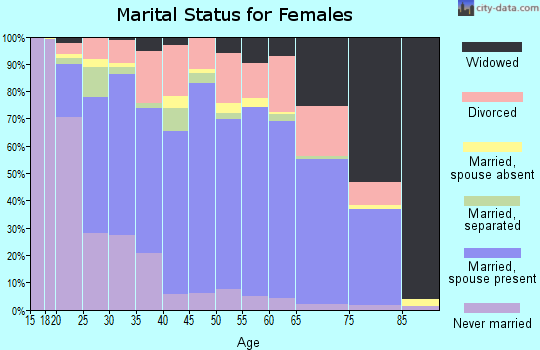 Clay County marital status for females