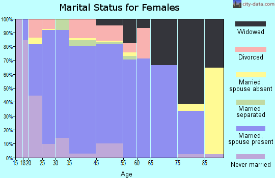 Brewster County marital status for females