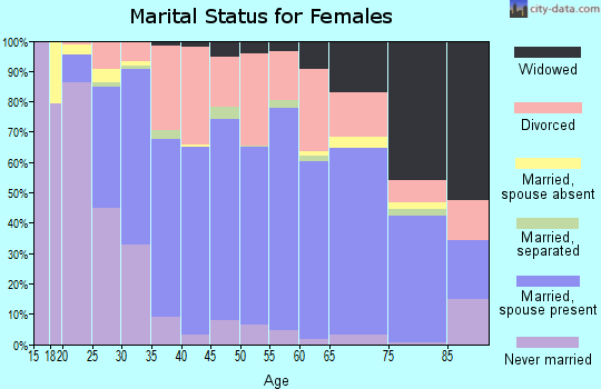 Piscataquis County marital status for females