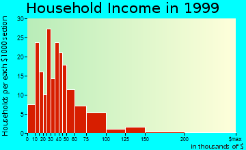 North Catasauqua household income distribution