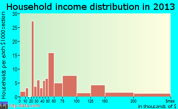 Mathews household income distribution