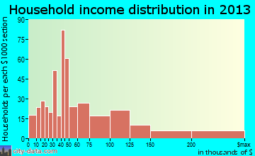 Village St. George household income distribution