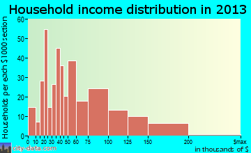 Brunswick household income distribution