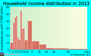 Fruitland household income distribution