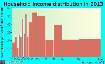 Mays Chapel household income distribution