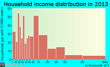 Robinwood household income distribution
