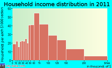 Savage-Guilford household income distribution